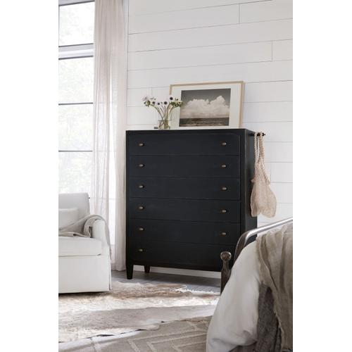Bedroom Ciao Bella Six-Drawer Chest- Black