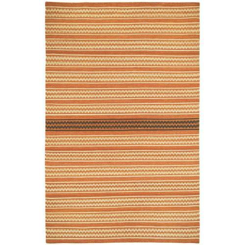 Capel Rugs - Dokka Stripe Saffron Kettle - Rectangle - 5' x 8'