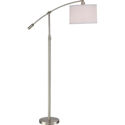 Clift Floor Lamp in Brushed Nickel