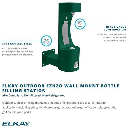 Elkay - Elkay Outdoor EZH2O Bottle Filling Station Wall Mount, Non-Filtered Non-Refrigerated Beige