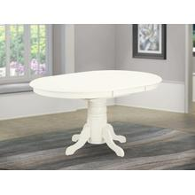 """Oval Table with 18"""" Butterfly leaf - Linen White"""