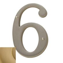 View Product - Vintage Brass House Number - 6