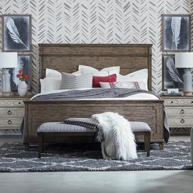 Verona Cal King Panel Bed, Footboard Low