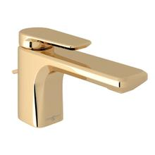 Hoxton Single Hole Single Lever Bathroom Faucet - English Gold with Metal Lever Handle