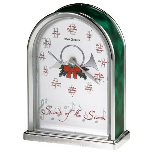 Howard Miller Sounds of the Season Silver Table Clock 645687
