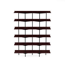 Shelving System 5306 in Charcoal Stained Ash Black