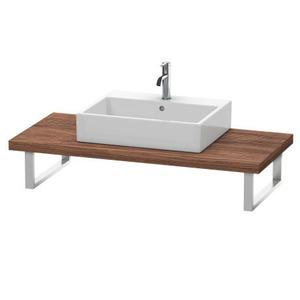 Console For Above-counter Basin And Vanity Basin, Walnut Dark (decor)