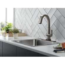 Black Stainless Single Handle Pull Down Bar/Prep Faucet With Touch 2 O Technology