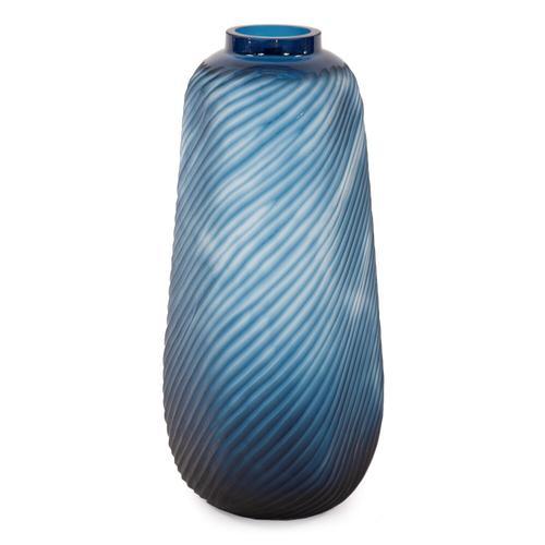Howard Elliott - Oceanic Wave Tall Hand Blown Glass Vase