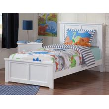 Madison Twin XL Bed with Matching Foot Board in White