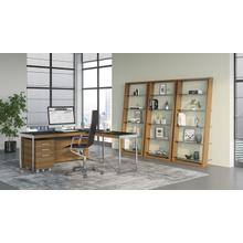 See Details - Eileen 5156 Leaning Shelf in Natural Walnut