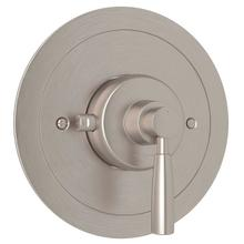Holborn Thermostatic Trim Plate without Volume Control - Satin Nickel with Metal Lever Handle