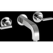 Chrome Wall-Mounted Widespread Faucet Trim with Lever Handles, 1.2 GPM