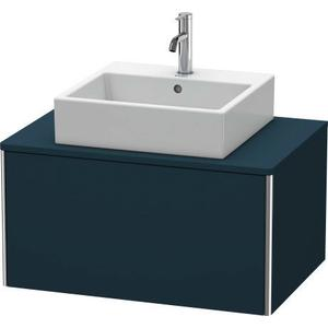 Vanity Unit For Console Wall-mounted, Night Blue Satin Matte (lacquer)