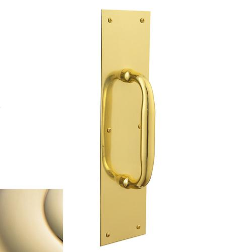 Lifetime Polished Brass 2560 Pull x 2121 Pull Plate