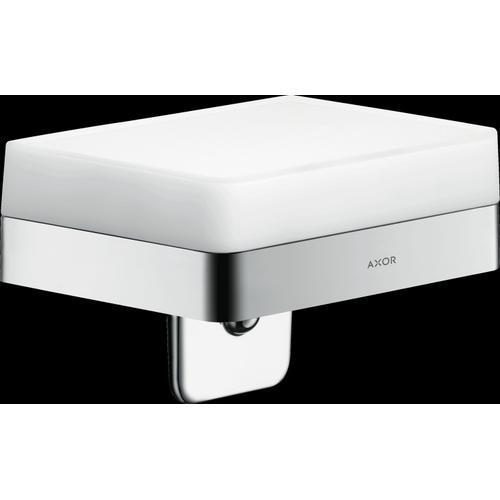 Chrome Soap Dispenser with Shelf