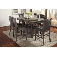 Manchester High/low Rect Dining Table With Four Stools- Grey