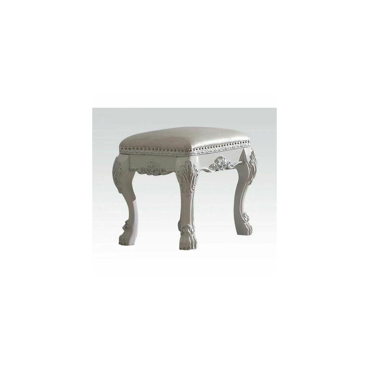 ACME Dresden Vanity Stool - 30671 - Antique White
