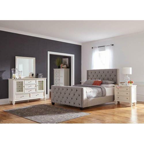 Palma Light Grey Upholstered King Bed