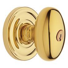 See Details - Lifetime Polished Brass 5225 Egg Knob