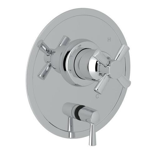 Holborn Pressure Balance Trim with Diverter - Polished Chrome with Cross Handle
