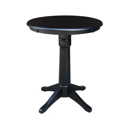 "30"" Pedestal Table in Black"
