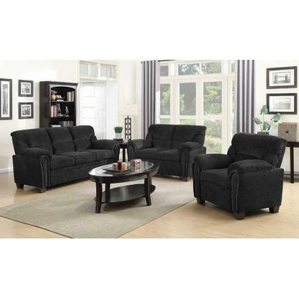 See Details - Clemintine Grey Three-piece Living Room Set