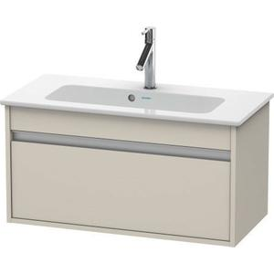 Vanity Unit Wall-mounted Compact, Taupe Matte (decor)