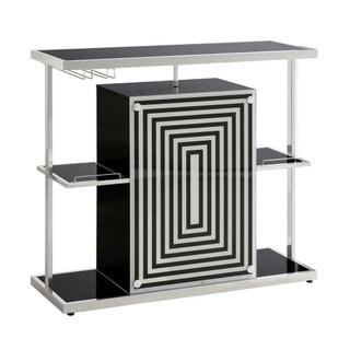 See Details - Contemporary Glossy Black Bar Unit