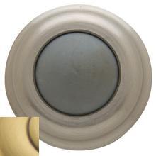 Satin Brass and Brown Wall Flush Bumper