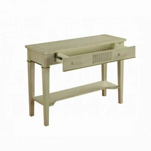 ACME Siskou Console Table - 90176 - Antique White