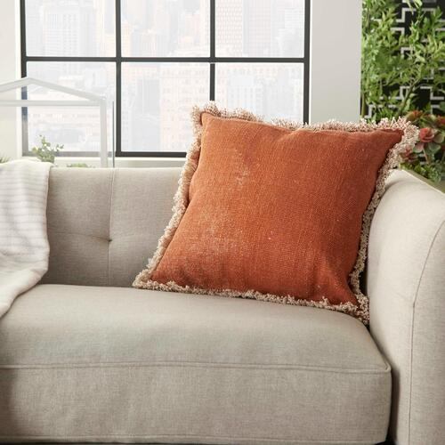 """Life Styles As301 Clay 18"""" X 18"""" Throw Pillow"""