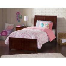 Portland Twin Bed with Matching Foot Board in Walnut