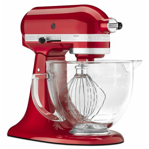 Gallery - Artisan® Design Series 5 Quart Tilt-Head Stand Mixer with Glass Bowl - Candy Apple Red