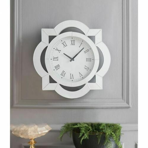 ACME Lilac Wall Clock - 97042 - Mirrored