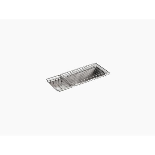 "22"" X 8-1/4"" X 5-1/4"" Undermount Single-bowl Trough Kitchen Sink, Includes Wire Basket and Rack"