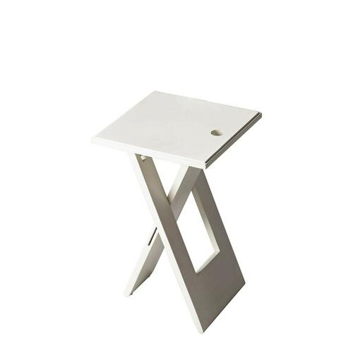 Whimsical, versatile and fun! This folding table is designed to snuggle into a small spot for a brief visit or a long stay. Folds easily for compact storage. Crafted from Mango wood solids. Finished in a crisp White.