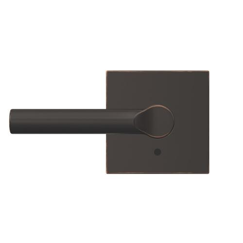 Custom Broadway Lever with Collins Trim Hall-Closet and Bed-Bath Lock - Aged Bronze