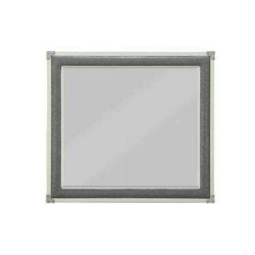 ACME Orchest Mirror - 36139 - Transitional, Industrial - Mirror, Wood (Poplar/Pine), MDF - Gray