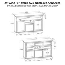 FT63C Extra Tall Fireplace Custom TV Console