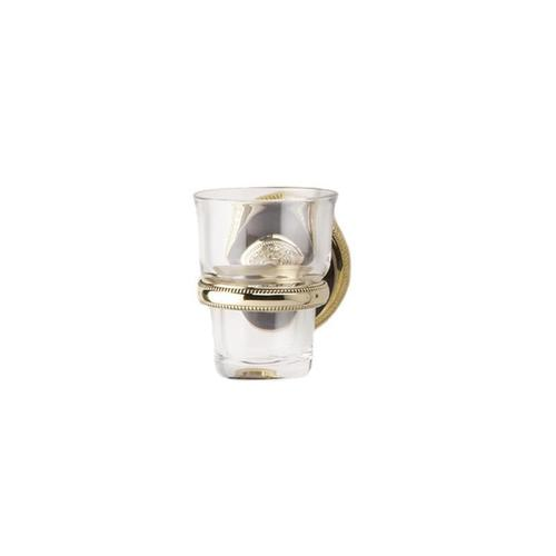 VERSAILLES Wall Mounted Glass Holder KTF30 - Satin Gold with Satin Nickel