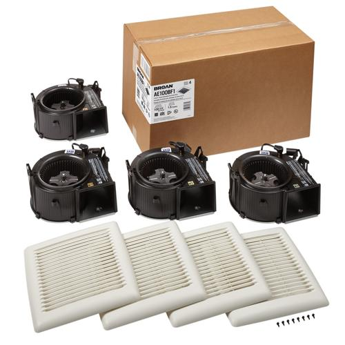 Broan Flex Series 100 CFM 1.5 Sones Bathroom Exhaust Fan Finish Pack Energy Star®