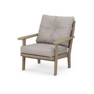 Polywood Furnishings - Lakeside Deep Seating Chair in Vintage Sahara / Weathered Tweed