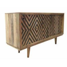 ACME Czarina Console Table - 90550 - Rustic - Wood (Mango), Veneer - Natural and Gray