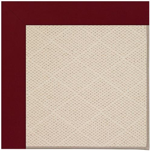 Creative Concepts-White Wicker Canvas Burgundy Machine Tufted Rugs