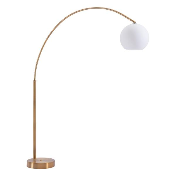 See Details - Griffith Floor Lamp Brushed Brass