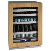 """Hbd524 24"""" Dual-zone Beverage Center With Integrated Frame Finish and Field Reversible Door Swing (115 V/60 Hz Volts /60 Hz Hz)"""