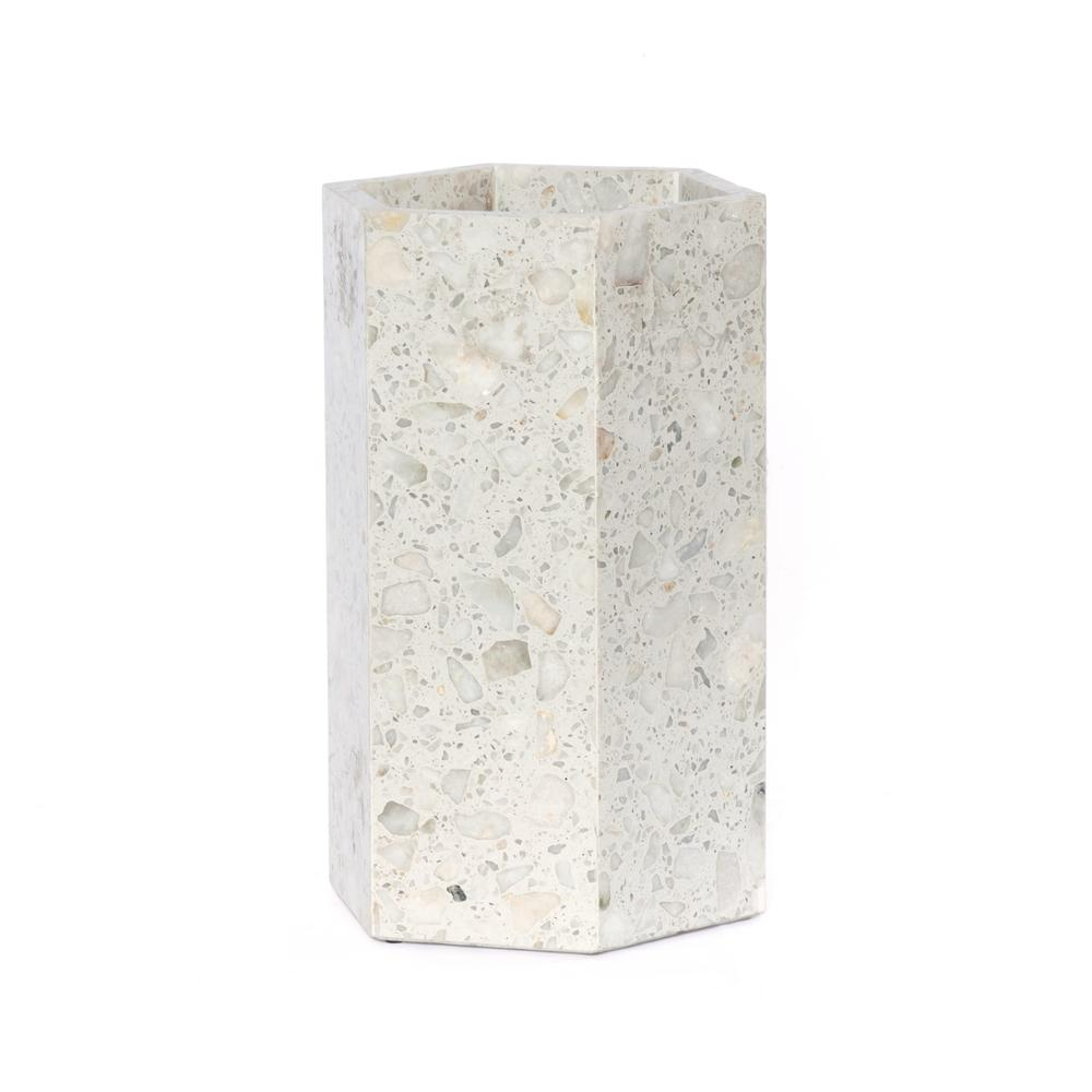 Polished White Terrazzo Finish Nomar Umbrella Storage