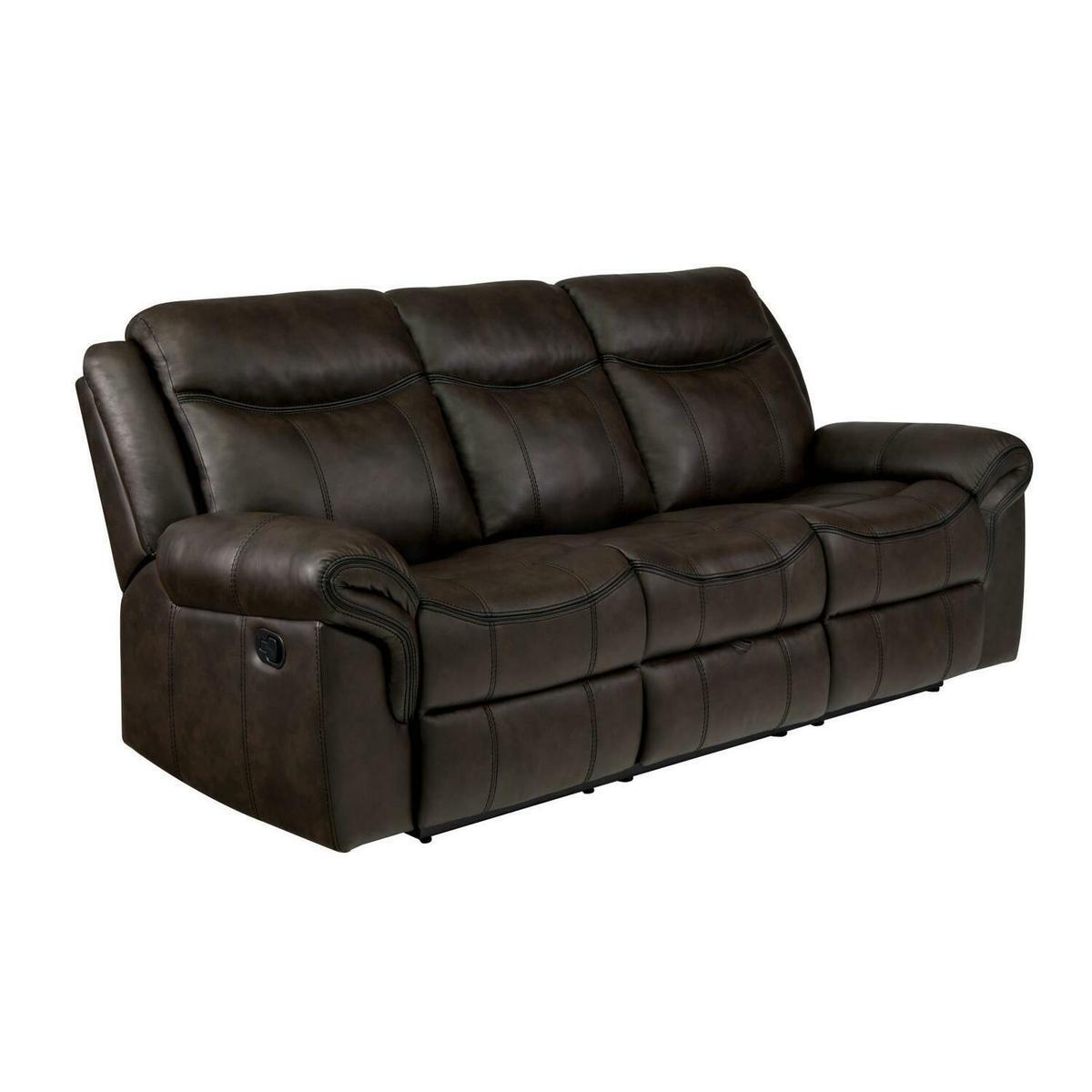 Sawyer Transitional Brown Motion Sofa