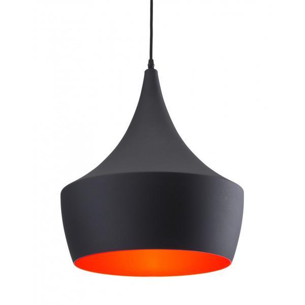Copper Ceiling Lamp Matte Black